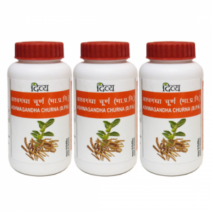 купить Ашваганда Чурна Дивья (Ashwagandha Churna Divya), 3 упаковки по 100 грамм