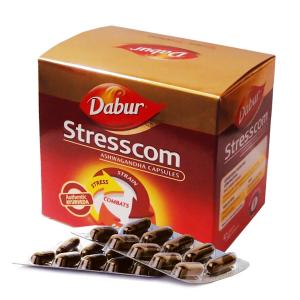 купить Стресском Ашваганда Дабур (Stresscom Ashwagandha Dabur), 1 упаковка по 120 капсул