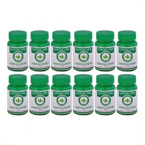 купить Ашваганда Гуд Кэр (Ashwagandha Goodcare), 12 упаковок по 60 капсул