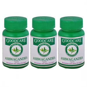 купить Ашваганда Гуд Кэр (Ashwagandha Goodcare), 3 упаковки по 60 капсул