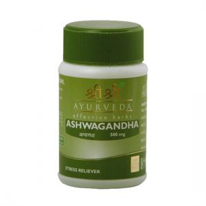 купить Ашваганда Шри Шри Аюрведа (Ashwagandha Sri Sri Ayurveda), 1 упаковка по 60 таблеток