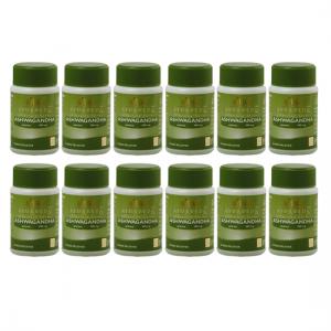 купить Ашваганда Шри Шри Аюрведа (Ashwagandha Sri Sri Ayurveda), 12 упаковок по 60 таблеток
