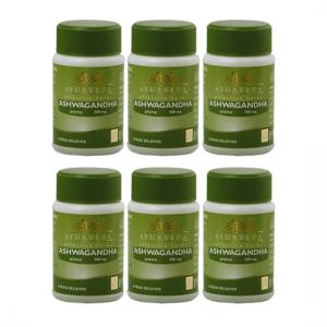 купить Ашваганда Шри Шри Аюрведа (Ashwagandha Sri Sri Ayurveda), 6 упаковок по 60 таблеток