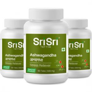 купить Ашваганда Шри Шри Аюрведа (Ashwagandha Sri Sri Ayurveda), 3 упаковки по 60 таблеток
